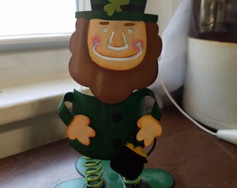80's spring st Patricks day leprechaun decoration
