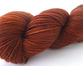 150g Merino pure yarn hand dyed hand painted:  Shades Chocolate