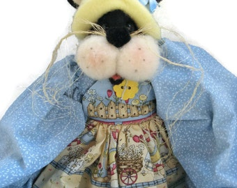 Cat Soft Sculpture Doll  By Honey Bunny Hollow