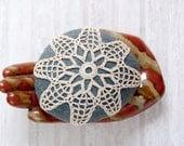 Crochet Stone Pattern, DIY, Lace Stone Cover Pattern, Rock Cozy Pattern, lace petals, Beach house decor, Tabletop decor, bowl element