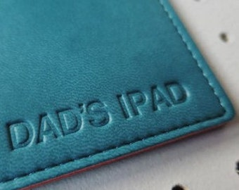 Personalized ipad PU leather sleeve