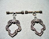 Toggle Clasp Anitque Silver 20MM and 23 Bar