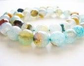Agate Beads Gemstone Blue/Brown Round 10MM