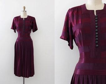 R E S E R V E D - Do NOT Purchase - vintage 1940s dress // 40s striped evening dress