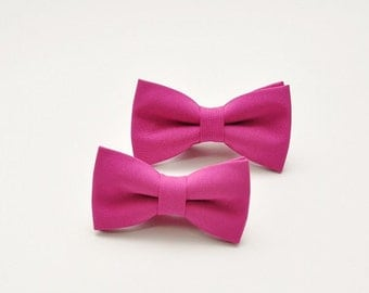 Father and Son Matching Bowtie Father and  Son Tie Fuchsia Bowtie Purple Wedding bow tie Pink bowtie
