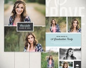Graduation Announcement Card Template: Stay Classy C - 5x7 Senior Card Template
