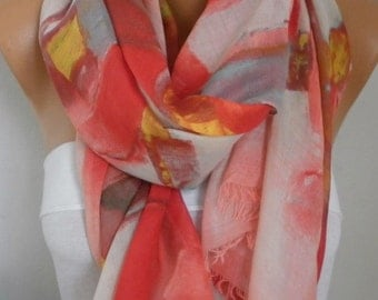 Pastel Tones Cotton Scarf, So Soft Shawl bohemian Scarf, Christmas Gift, Cowl Oversized Wrap Gift Ideas For Her Women Fashion Accessories