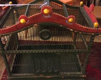 Huge vintage birdcage
