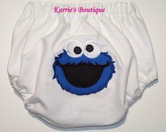 Cookie Monster Diaper Cover / Boy / Bloomers / 123 Sesame Street / Big Bird / Newborn / Infant / Baby / Toddler /Girl / Boutique Clothing