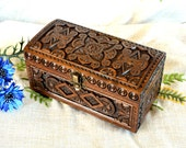 Jewelry box Wooden box Ring box Carved wood box Wooden boxes Wood boxes Jewelry boxes Wedding gift Wood carving schatulle boite bijoux B11