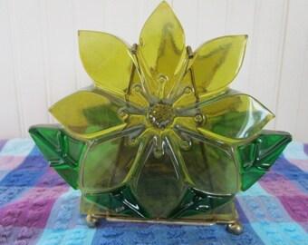 Resin Flower Napkin Holder