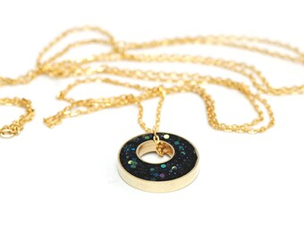 Glitter Box collection Long Layering Necklace - Inkwell