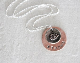 I AM Strong / Empowering Necklace / Inspirational Jewelry / Strong / Joyful / Centered / Free / Gift for Her / Graduation Gift / Spring 2016