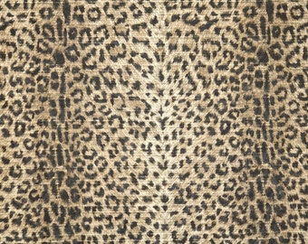 Vintage Wallpaper by the Yard 80s Retro Wallpaper - 1980s Black and Brown Leopard Print