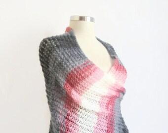 Free shipping Shawl,wrap,stole,warm,pink,grey,black,multicolor,handmade,collar,cowl,bolero,shrug,scarf,neck,