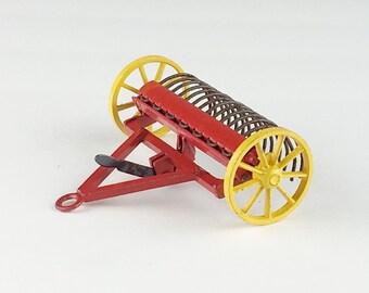 dinky toy hay rake vintage metal toy farm equipment #324
