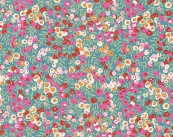 "Liberty Tana Lawn 'Wiltshire' - 17"" wide x 13"" (43cm x 33cm) - Limited Edition - pink, turquoise"