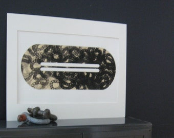"""SUMMER SALE - 40% OFF. use code { EOS40}. Contemporary . Large Print . Etching . Black and White: """"Plug 4"""". Size 14"""" x 19"""". unframed"""