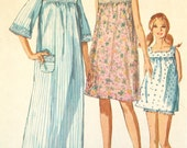 Nightgown Nighty Baby Doll Panties Bloomers Pajamas Pattern Vintage 1960s Simplicity 7096 Sz 14