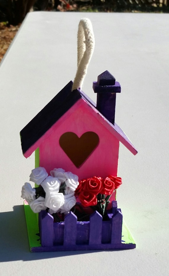 Small Wooden Decorative Bird House Small Wooden Bird By