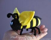 Washcloth Bee, Baby Washcloth Bumble Bee , WashAgami® , Instructional Video