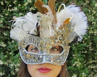 One of a Kind - Silver Loves Gold  Masquerade Collectible Mask