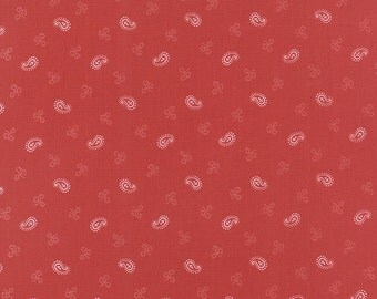 Miss Scarlet by Minick & Simpson - Paisley/Floral -  Warm Red  - Moda 14815 15