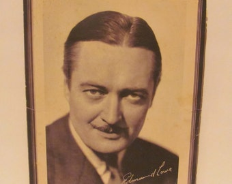 "Portrait of Edmund Lowe, Star of Universal's ""Gift of Gab"""