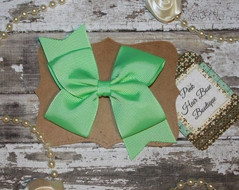 Mint green hair bow , mint hair clip , mint hairbow , mint bow , mint green hairclip , hair bows for girls