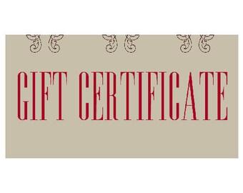 GIFT CERTIFICATE, Custom Gift, Custom Drawing, Custom Portrait, Anniversary Gift, Birthday Gift, Housewarming, Wedding Gift, Family Gift