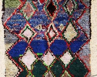 "boucherouite FREE SHIPPING worlwide T25560  230 X 120 CM (7'6"" X 3' 11""), boucharouette,  moroccan rugs , berber rugs, morocco carpets"