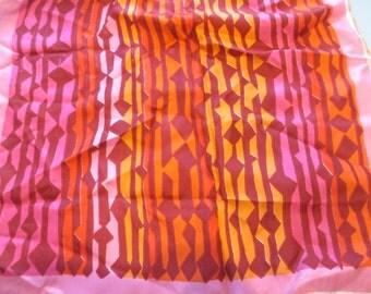 Vintage Vera Hot Pink Silk Scarf