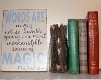 Harry Potter (Dumbledore) quote hand painted wood sign