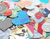Assorted Hearts, Paper Hearts, Confetti, Decoration, Scrapbooking, Paper Projects, Journals, Embellishment, Ephemera