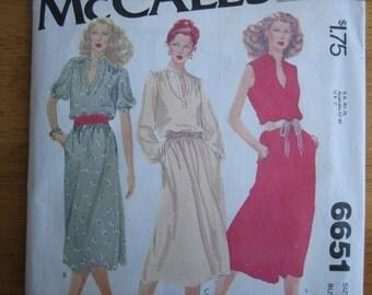 McCALL'S Pattern 6651 Misses' Dress    1979     Uncut