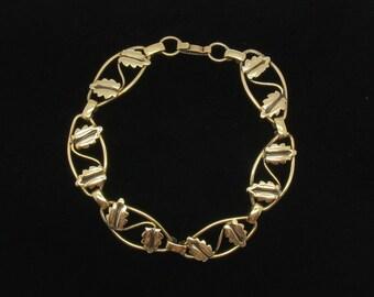 Gold Fill  Leaf Link Bracelet - Automade