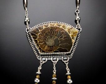 Extinction - Ammonite Fossil Necklace