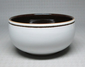 """Denby """" vanilla """" one small bowl , maybe a sugar bowl with no lid , I'm not sure . these were made 1977 - 1981 ."""