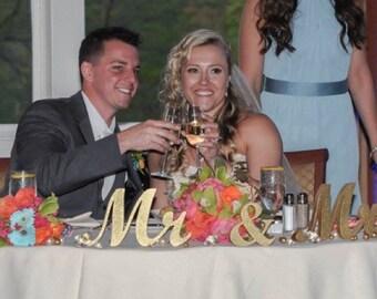 Couple Gift Idea Mr & Mrs Sign Wood Wedding Sign Sweetheart table decor. Mr Mrs Wedding Photo Props. Mr Mrs Wedding Reception Signs