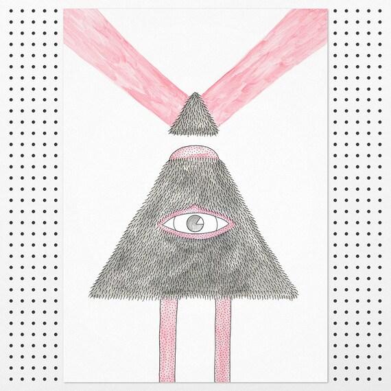 Pyramid Beast - Giclée Print by Tim Easley
