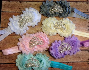 crown, baby headband, baby girls headbands, flower headband, newborn headband, baby, girl