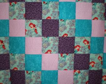 Little Mermaid Patchwork  Quilt