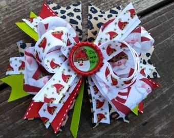 Christmas hair bow