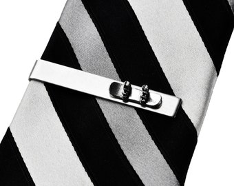 Snowboard Tie Clip - Snowboading - Tie Bar - Tie Clasp - Business Gift - Handmade - Gift Box Included