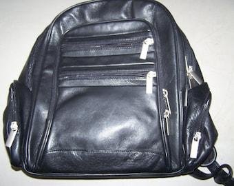 Vintage Leather Backpack - 1990's