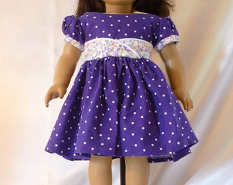 1950's style  Dress  for 18 inch American Girl dolls D036