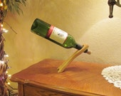 READY TO SHIP - Wine Bottle Balancer - Available in Hickory, Oak, Maple or Pine