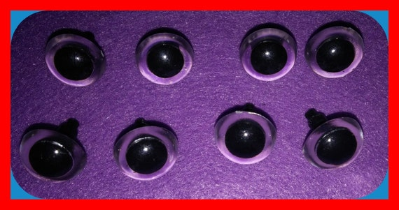 EYES Animals 15mm Amigurumi Plush Toys Black Clear 8 pairs