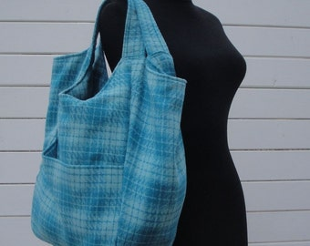 50%off Ready to Ship tote bag as in picture -Tote-Handbag - Shoulder Bag - Everyday bag - interior Pockets