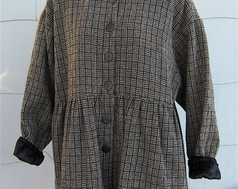April Cornell for Cornell Trading Vintage 80's Short Wool Coat Made in India
